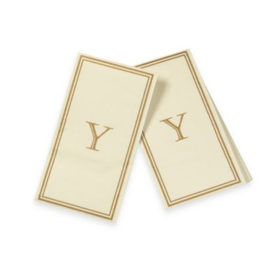 "Monogram Disposable Letter ""Y"" Guest Towels"