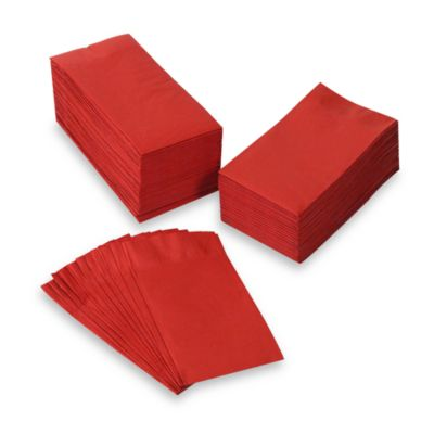Red Disposable Guest Towel (Set of 100)
