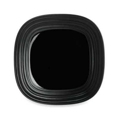 Mikasa® Swirl 8 1/2-Inch Square Salad Plate in Black