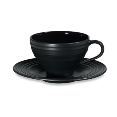 Mikasa® Swirl Teacup and Saucer in Black