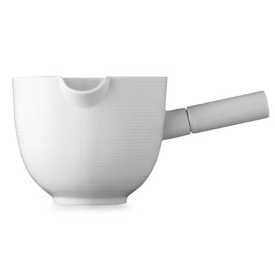 Rosenthal Thomas Loft 63 1/3-Ounce Round Gravy Boat with Porcelain Handle in White