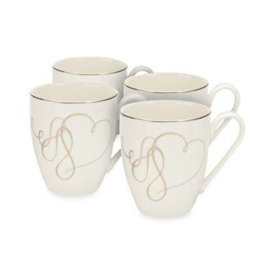 Mikasa® Love Story 14-Ounce Mugs (Set of 4)