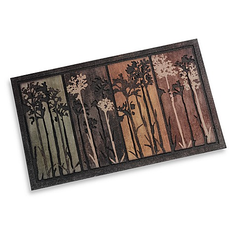 Tall Tree Scape 18-Inch x 30-Inch Door Mat