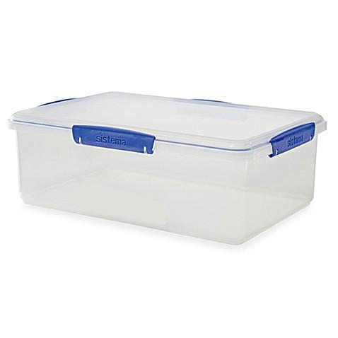 Buy Sistema 174 Klip It 174 7 Liter Rectangular Food Storage