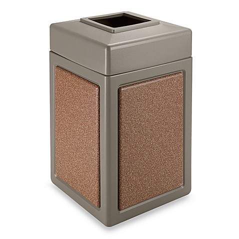 StoneTec™ 38-Gallon Waste Container in Beige with Sedona