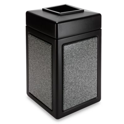 StoneTec™ 38-Gallon Waste Container in Black with Pepperstone