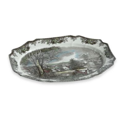 Friendly Village 20-Inch Turkey Platter by Johnson Brothers