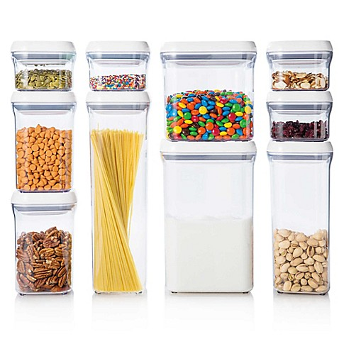 Oxo Good Grips 10 Piece Food Storage Pop Container Set Bed Bath Beyond