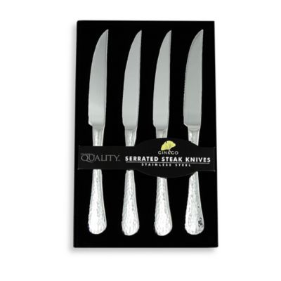 Ginkgo Lafayette Stainless Steel Steak Knife (Set of 4)