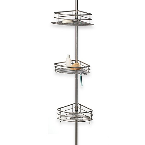 Oversized 3-Tier Pole Shower Caddy