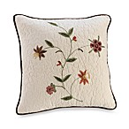 Ambria 18-Inch Square Throw Pillow in Chocolate