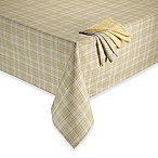 Tuscan Plaid Laminated Fabric Tablecloth and Napkins