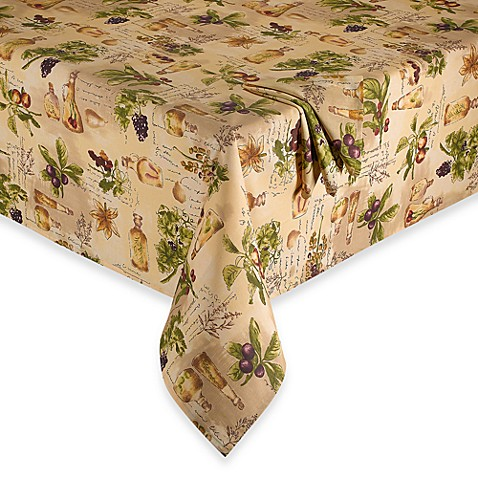 Sorrento Laminated Fabric Tablecloth and Napkins