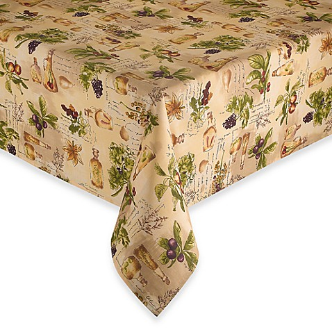Sorrento Laminated Fabric Tablecloth