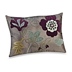 Oblong Toss Pillow in Plum Vine