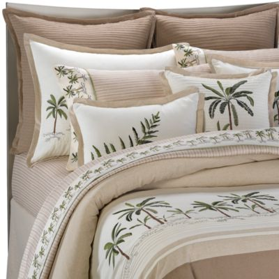 King Comforter Set with Palm Trees