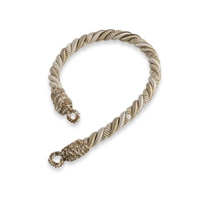 Chenille Rope Window Tie Back in Ivory/Dark Sand