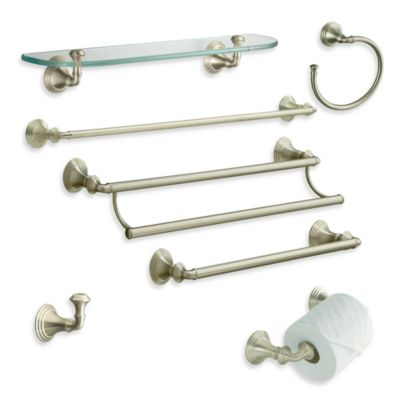 Devonshire Brushed Nickel 24-Inch Towel Bar