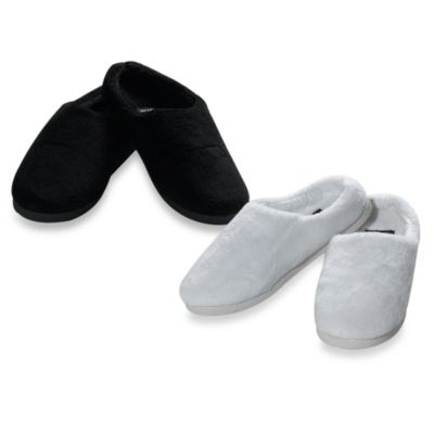 Sharper Image® Temperature Regulating Memory Foam Slippers