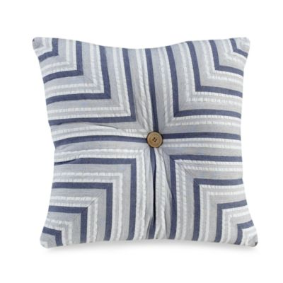 Seaside Stripe 14-Inch Square Throw Pillow