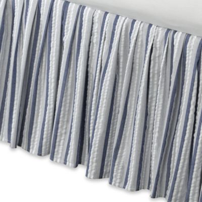 Blue and White Stripe Twin Bedding