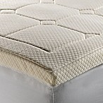 Therapedic® Luxury Quilted Deluxe 3-Inch Memory Foam Queen Bed Topper in Beige