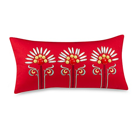 Echo Design™ Jaipur Oblong Throw Pillow in Red