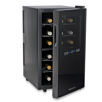 Wine Enthusiast Silent 18-Bottle Touchscreen Two-Temperatures Wine Refrigerator