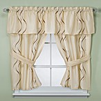 Dante Champagne Bathroom Window Curtain Pair