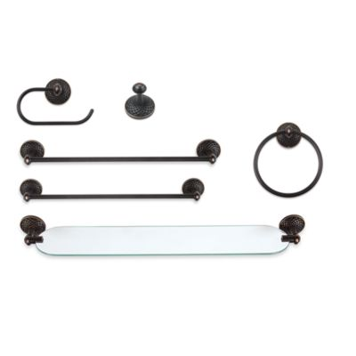 Mandalay Venetian Bronze 24-Inch Towel Bar