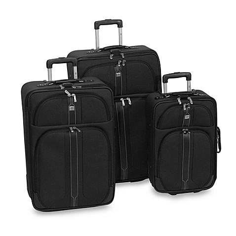 Dockers 174 South Beach 3 Piece Luggage Set Black Bed