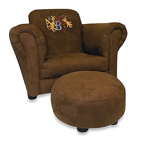 Trend Lab™ Dr. Seuss ABC Brown Suede Chair and Ottoman