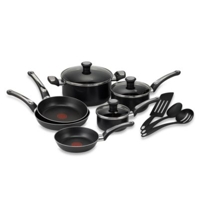 T-Fal® Total Non-stick 12-Piece Cookware Set in Black