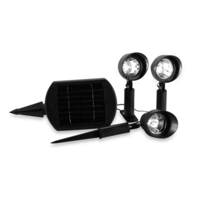 Black Solar Powered Outdoor Lighting