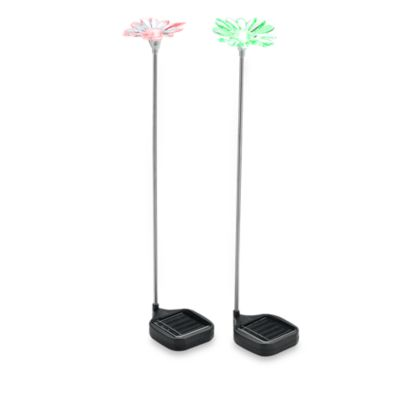St. Petersburg® Color Changing Flower Solar Lights (Set of 2)