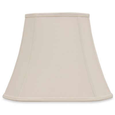 Mix & Match Medium 14-Inch Shantung-Cut Lamp Shade in Ivory
