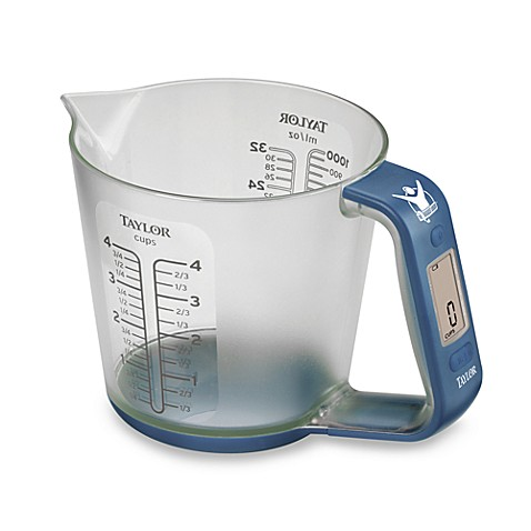 The Biggest Loser 174 Digital Food Scale With Measuring Cup