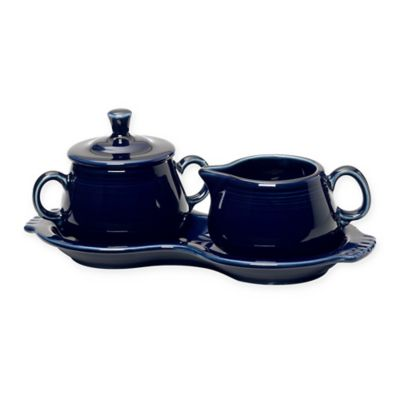 Fiesta® Covered Sugar and Creamer with Tray in Cobalt Blue
