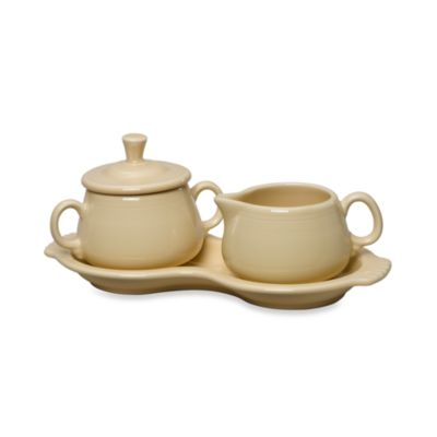 Fiesta® Covered Sugar and Creamer with Tray in Ivory