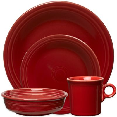 Fiesta® 4-Piece Place Setting in Scarlet