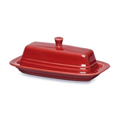 Fiesta® Covered Butter Dish in Scarlet