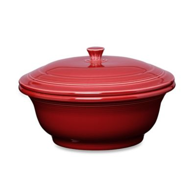 Fiesta® Covered Casserole in Scarlet