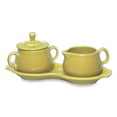 Fiesta® Sunflower Covered Sugar and Creamer with Tray