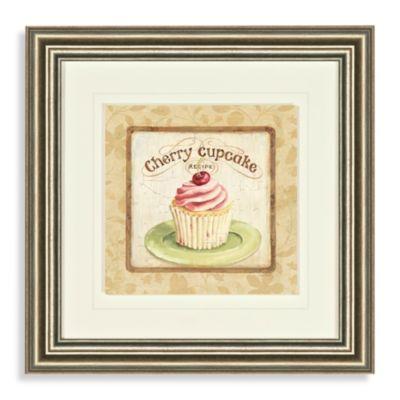 Cherry Cupcake Wall Art