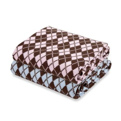 Elegant Baby 100% Cotton Argyle Blanket