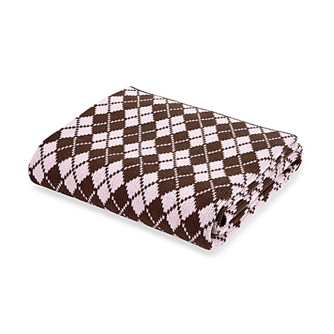 Elegant Baby® Argyle Blanket in Pink/Chocolate
