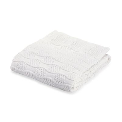 Elegant Baby® Fancy White Blanket