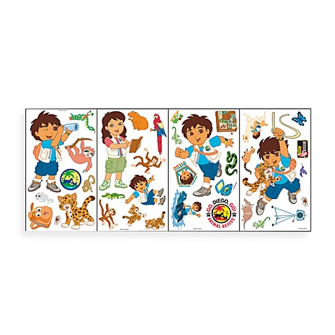 Nick jr go diego go self stick room appliques wall for Go diego go bedding