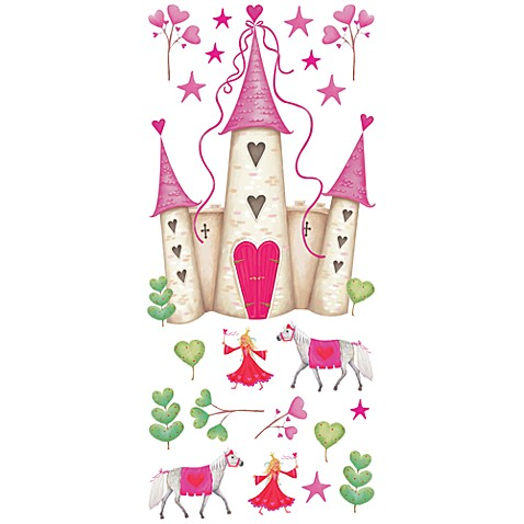RoomMates Peel and Stick Wall Decals in Princess Castle