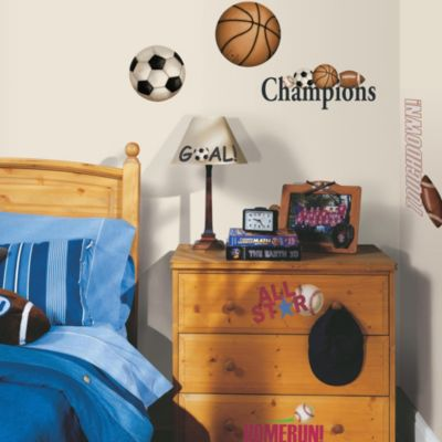 RoomMates Peel and Stick Wall Decals in Play Ball